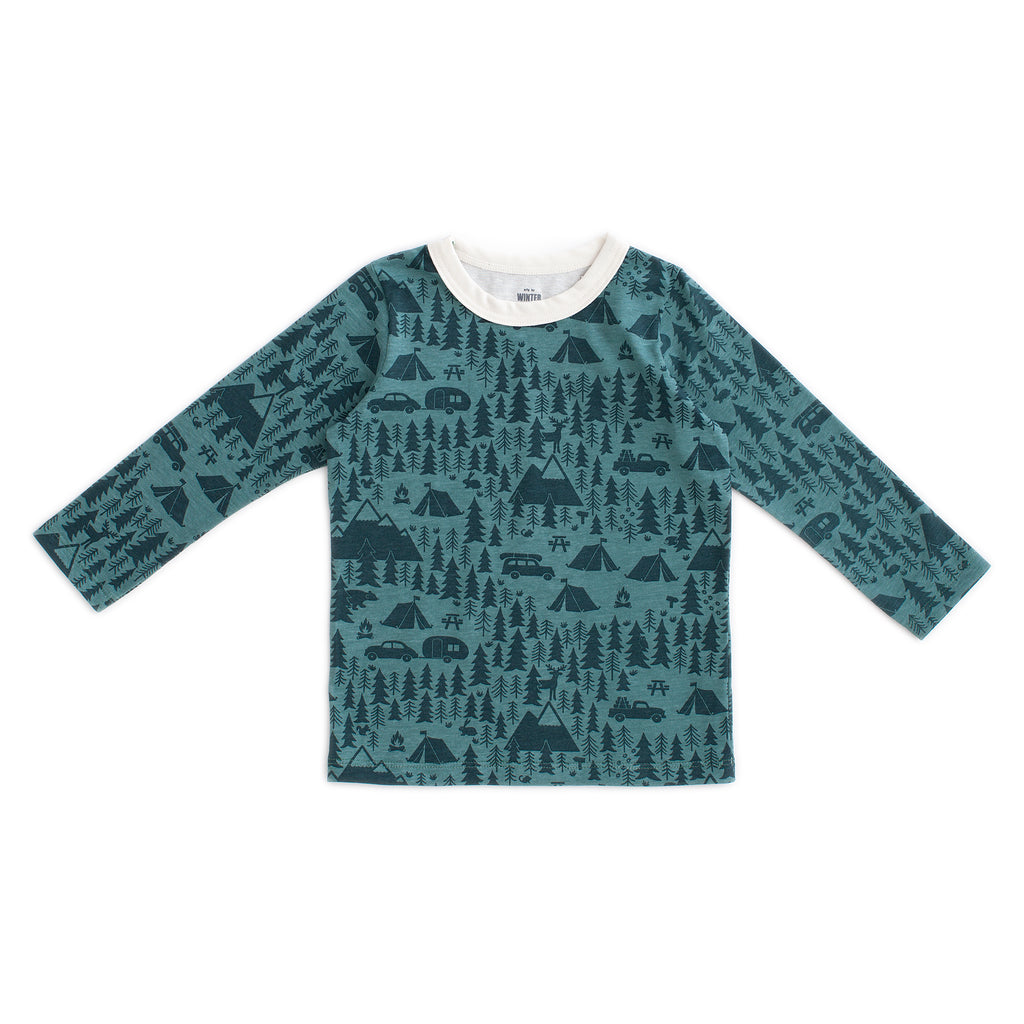 Long-Sleeve Tee - Campground Teal