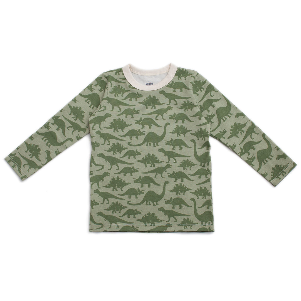 Long-Sleeve Tee - Dinosaurs Sage