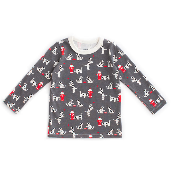 Long-Sleeve Tee - Dalmatians Charcoal