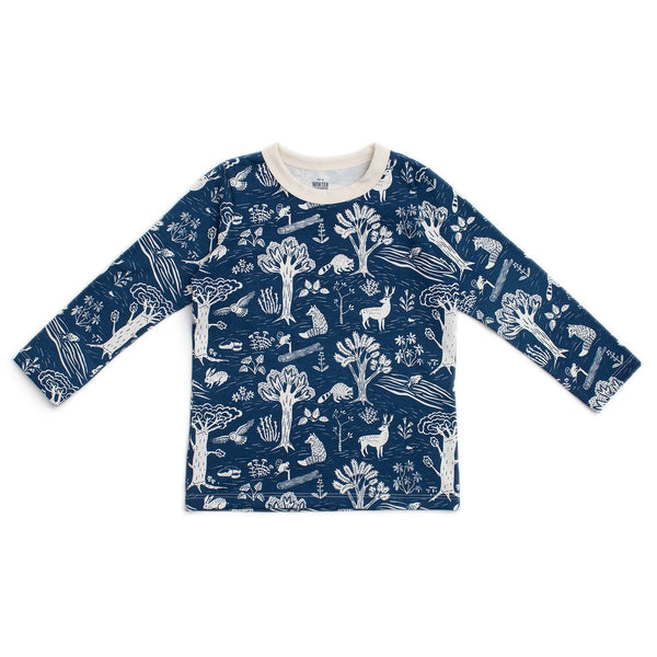 Long-Sleeve Tee - In The Forest Navy