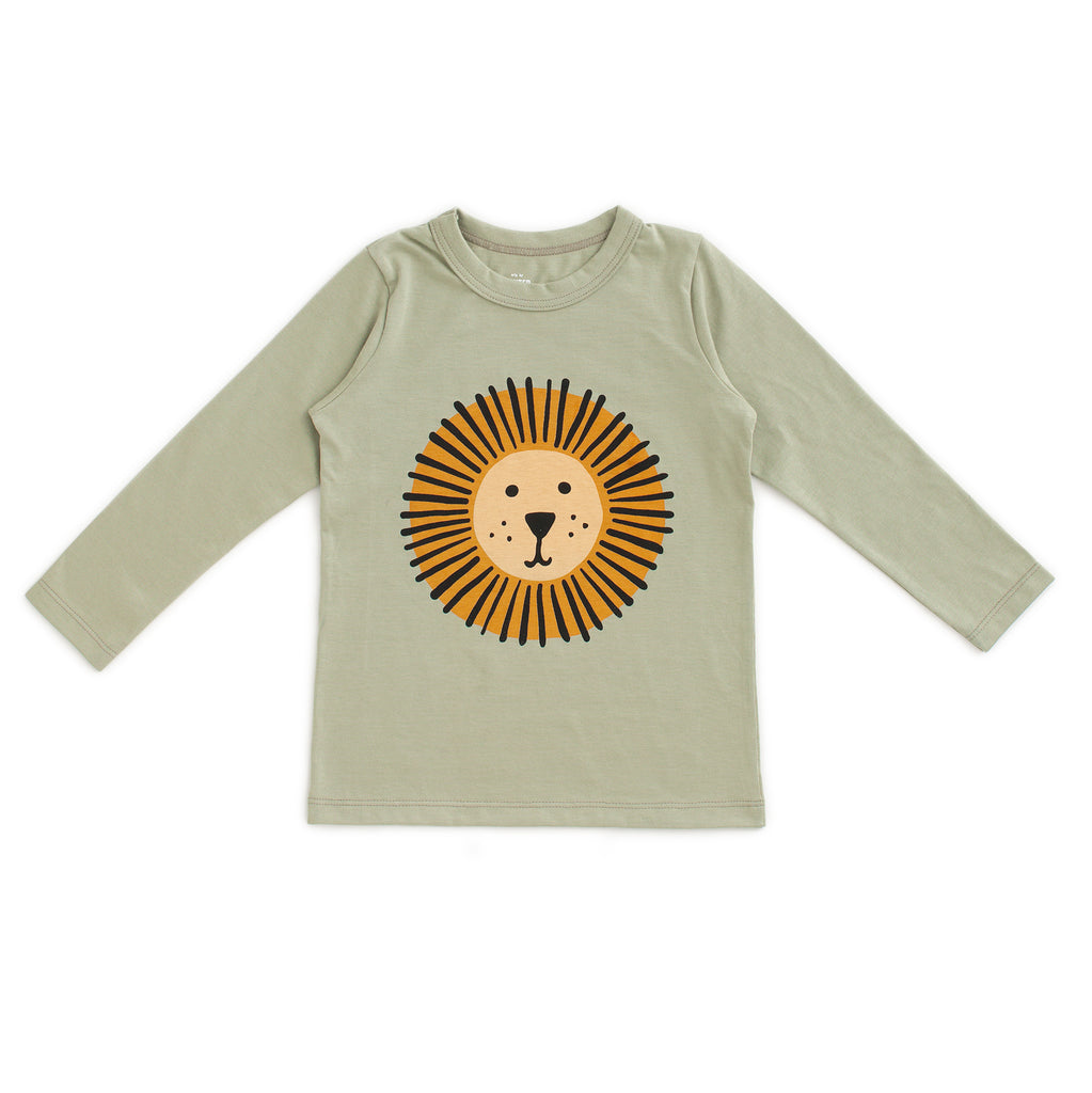 Long-Sleeve Tee - Lion Sage