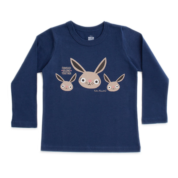 Families Belong Together x WWF Long Sleeve Tee - Bunnies by Robin Rosenthal