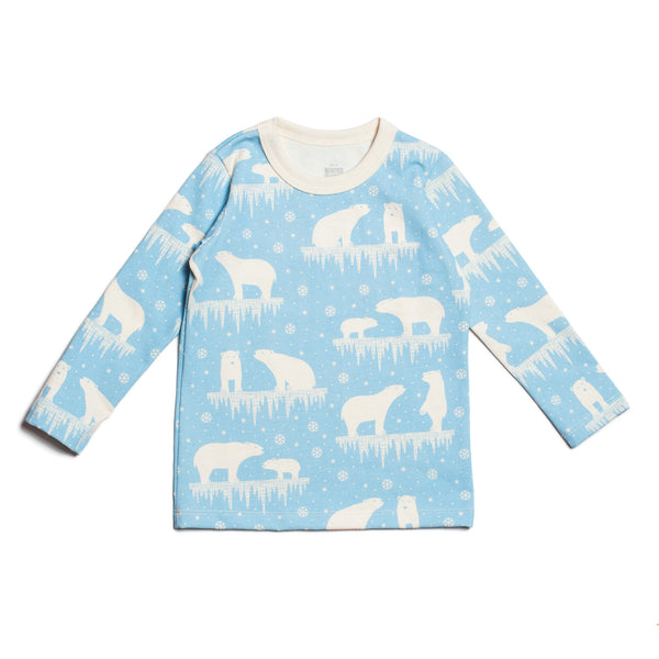 Long-Sleeve Tee - Polar Bears Arctic Blue