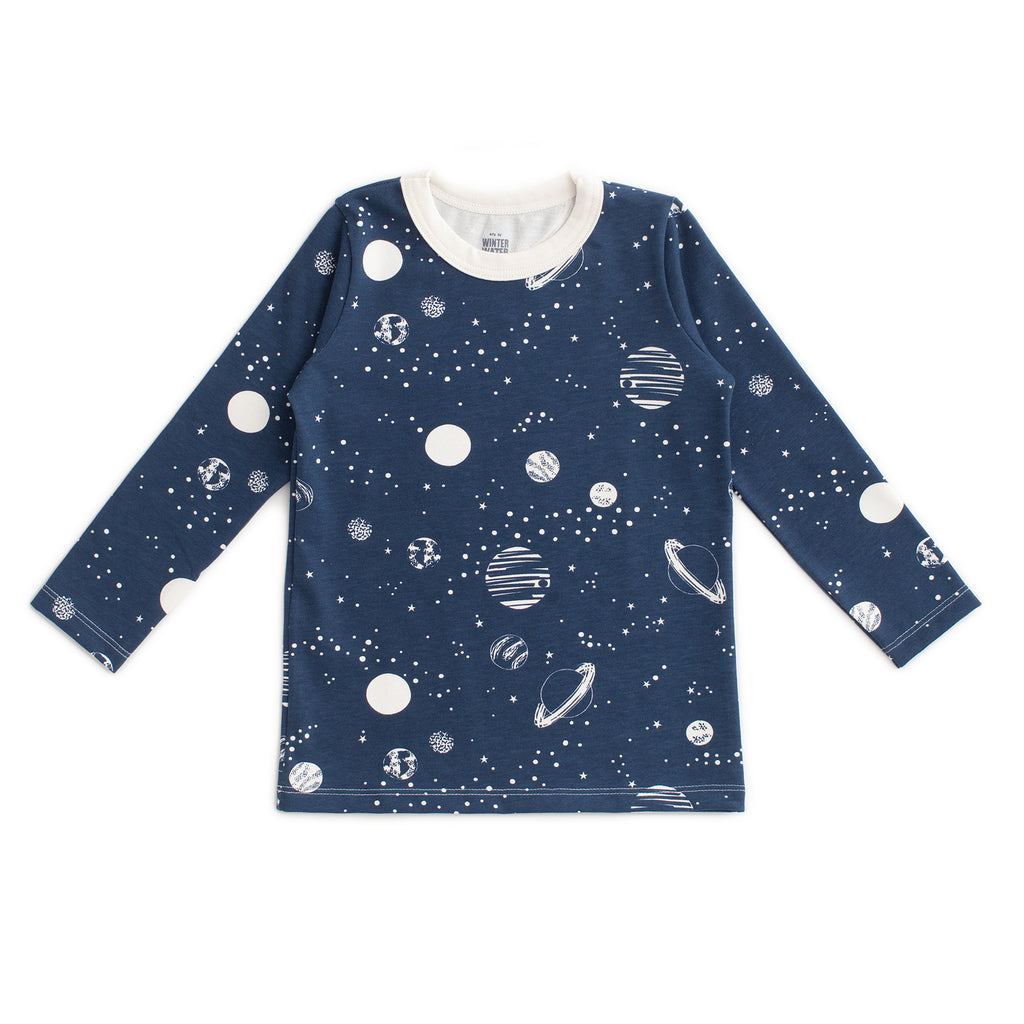 Long-Sleeve Tee - Planets Night Sky