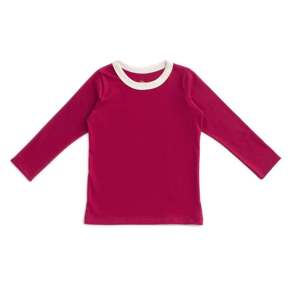 Long-Sleeve Tee - Solid Plum