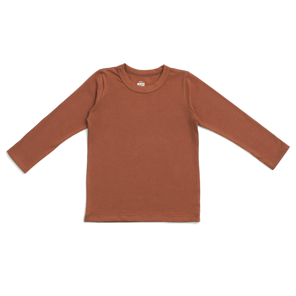 Long-Sleeve Tee - Solid Chestnut