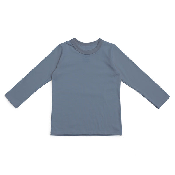 Long-Sleeve Tee - Solid Slate Blue