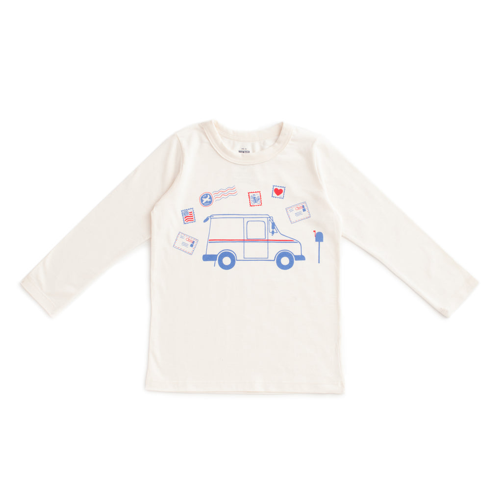 Long-Sleeve Tee - Postal Service Natural