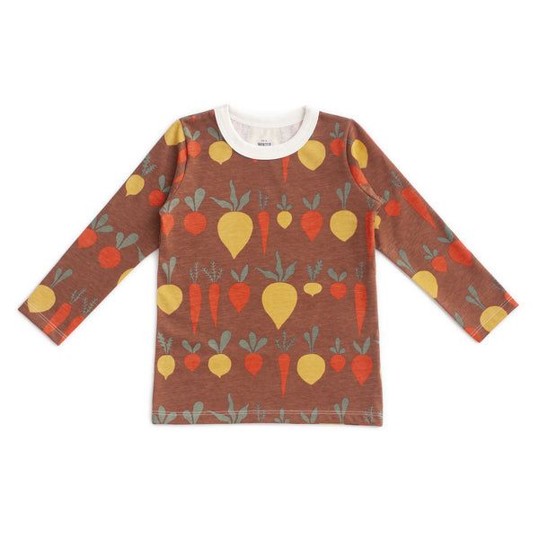 Long-Sleeve Tee - Root Vegetables Chestnut