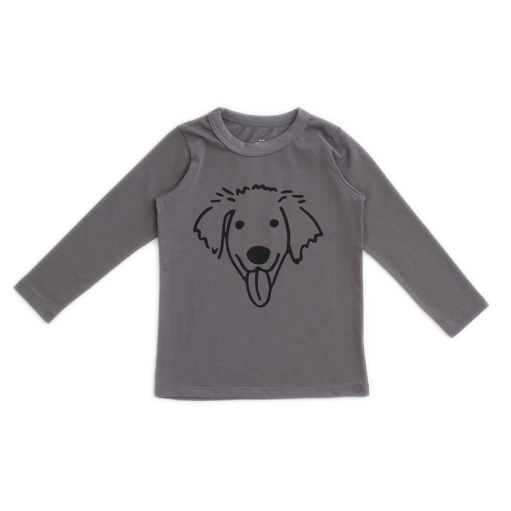 Long-Sleeve Tee - Dog Charcoal