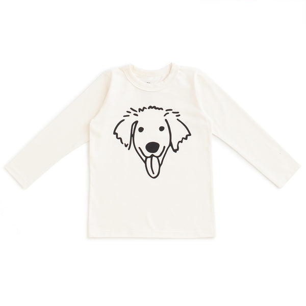Long-Sleeve Tee - Dog Natural