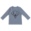 Long-Sleeve Tee - Dog Slate Blue