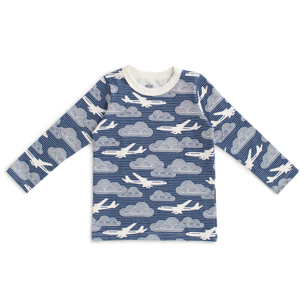 Long-Sleeve Tee - In The Clouds Navy