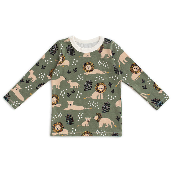 Long-Sleeve Tee - Lions Forest Green