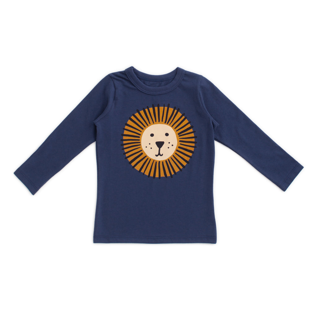Long-Sleeve Tee - Lion Night Sky
