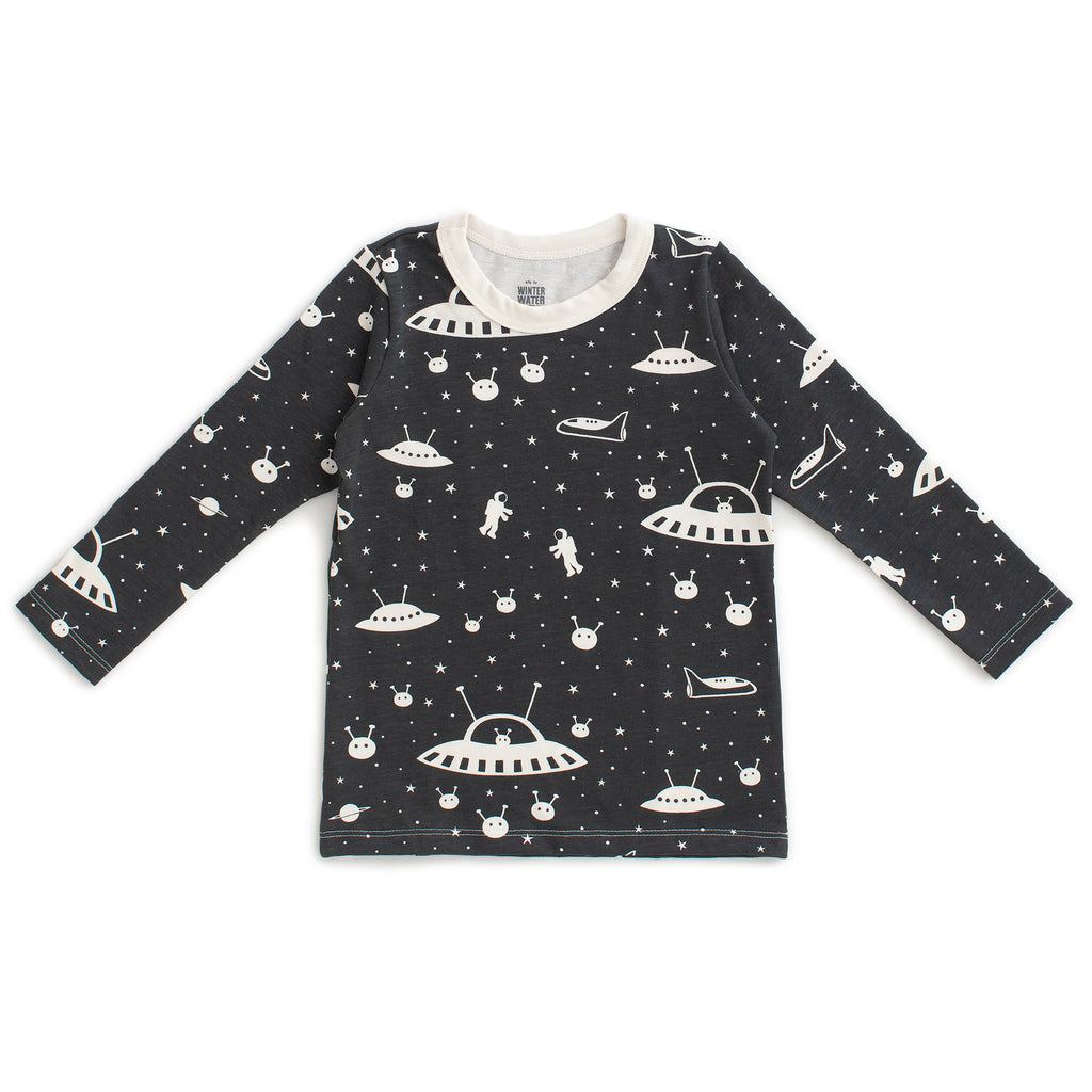 Long-Sleeve Tee - Outer Space Charcoal