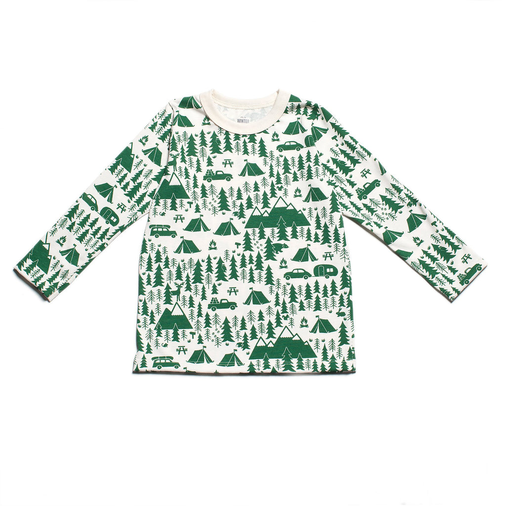 Long-Sleeve Tee - Campground Green