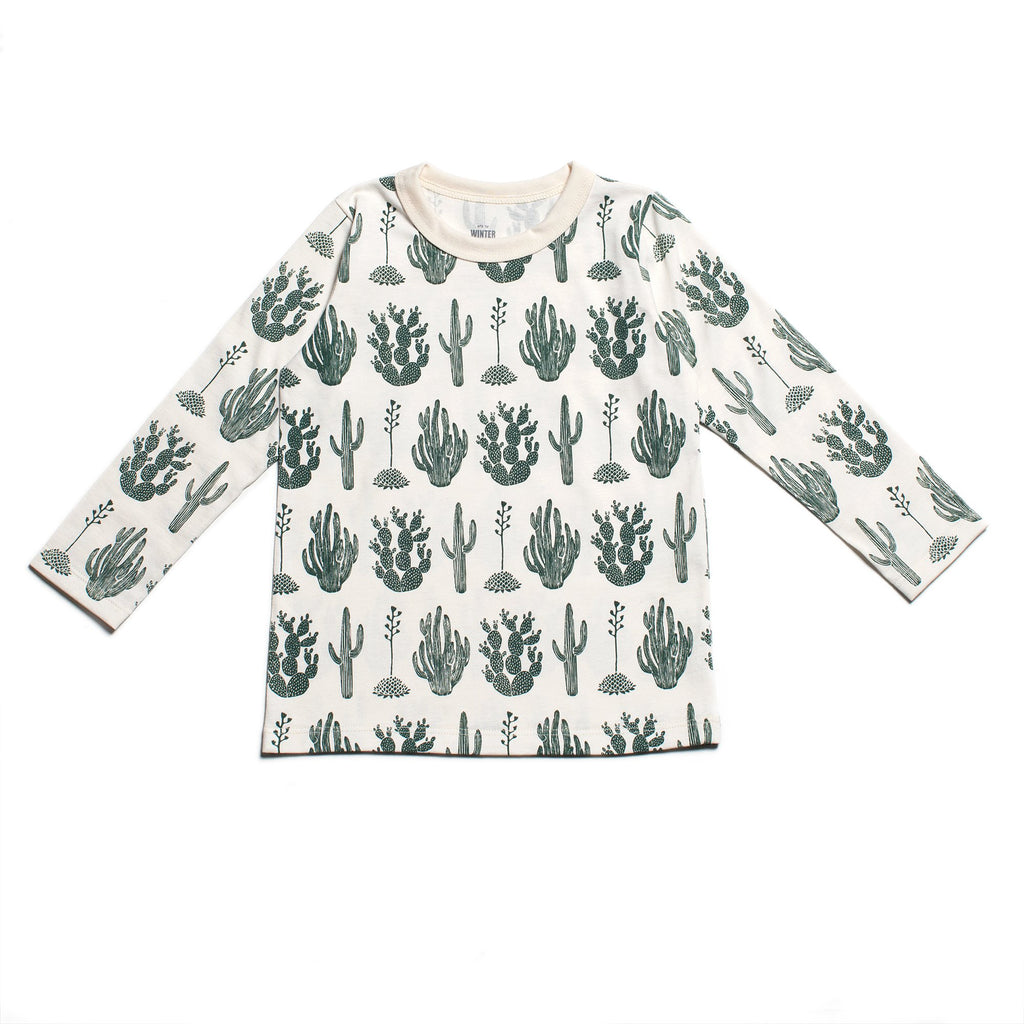 Long-Sleeve Tee - Cactus Green
