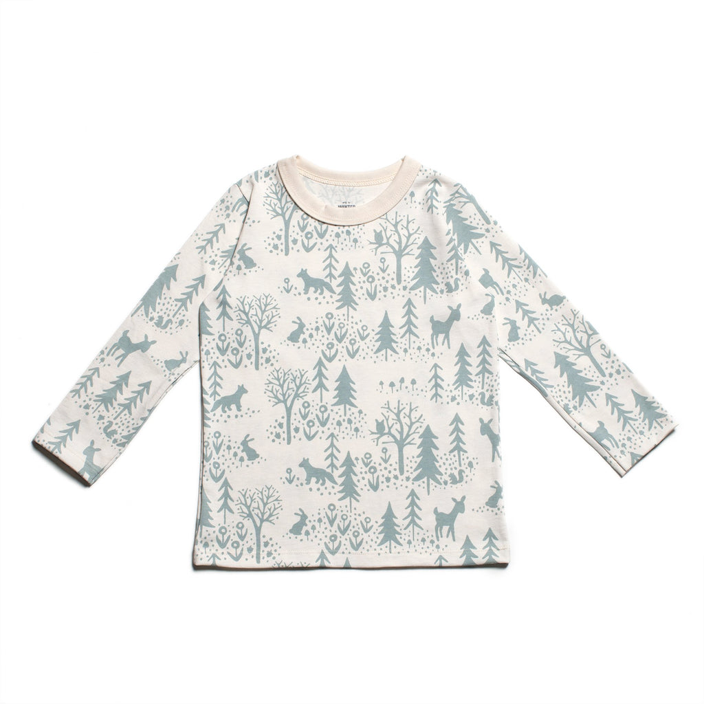 Long-Sleeve Tee - Winter Scenic Pale Blue