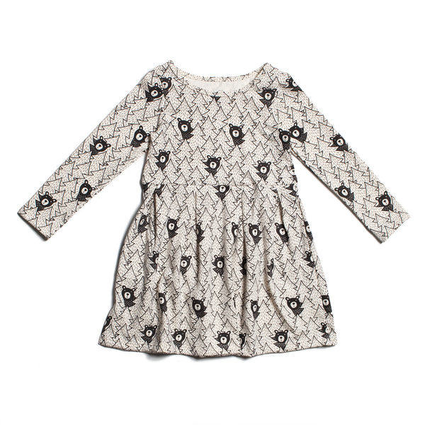 Madison Dress - Bears Black