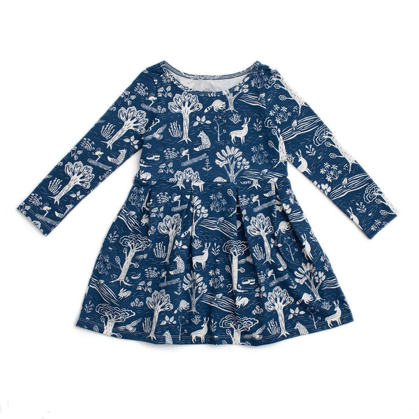 Madison Dress - In The Forest Navy