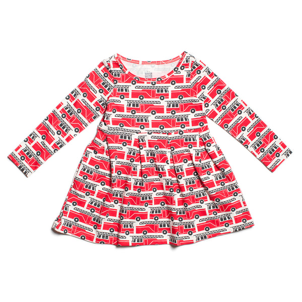 Madison Dress - Firetrucks Red