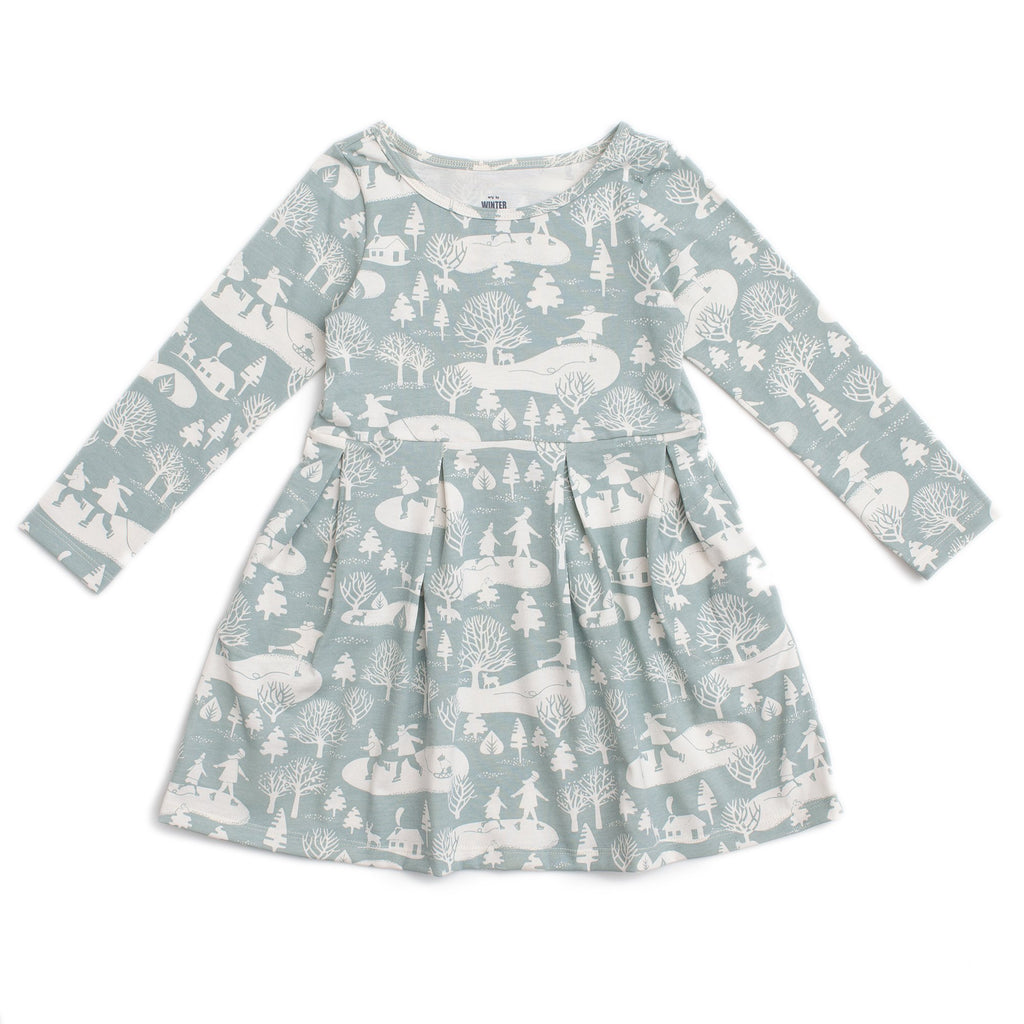 Madison Dress - On The Ice Pale Blue