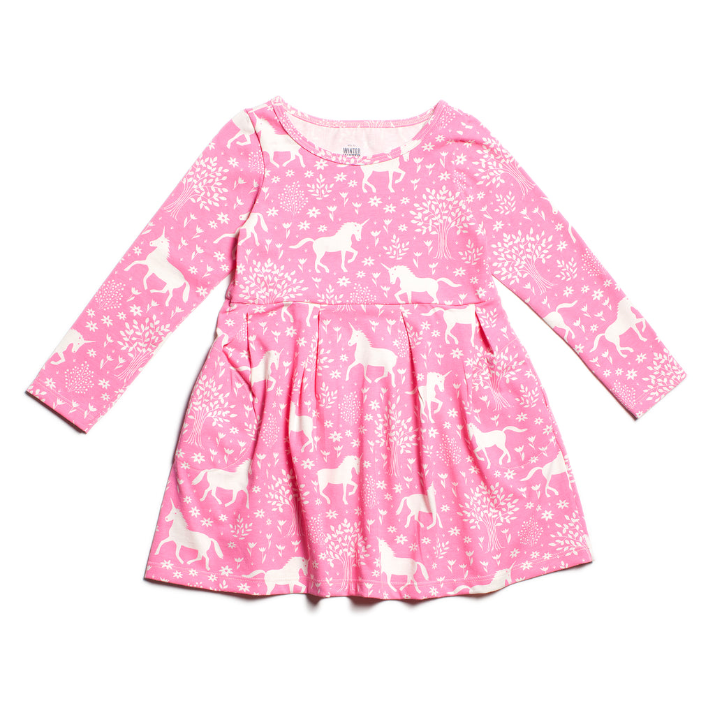Madison Dress - Magical Forest Pink