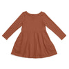 Madison Dress - Solid Chestnut