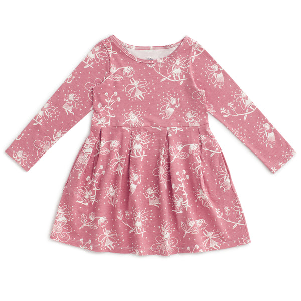 Madison Dress - Fairies Dusty Pink