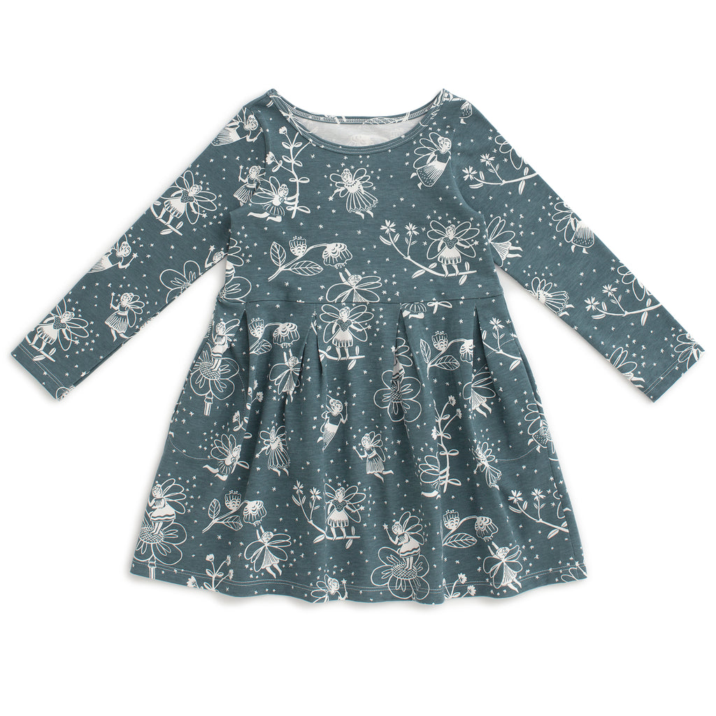 Madison Dress - Fairies Teal