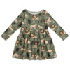 Madison Dress - Lions Forest Green