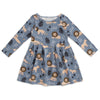 Madison Dress - Lions Slate Blue