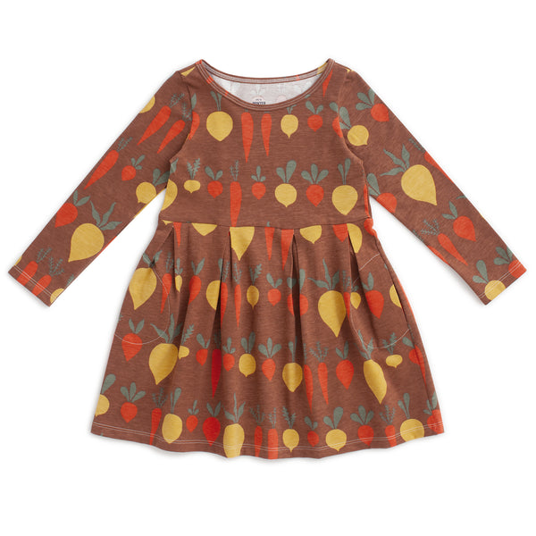 Madison Dress - Root Vegetables Chestnut