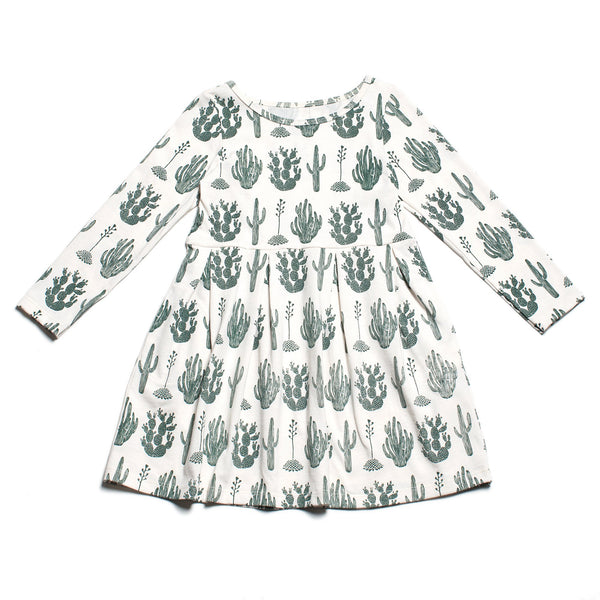 Madison Dress - Cactus Green