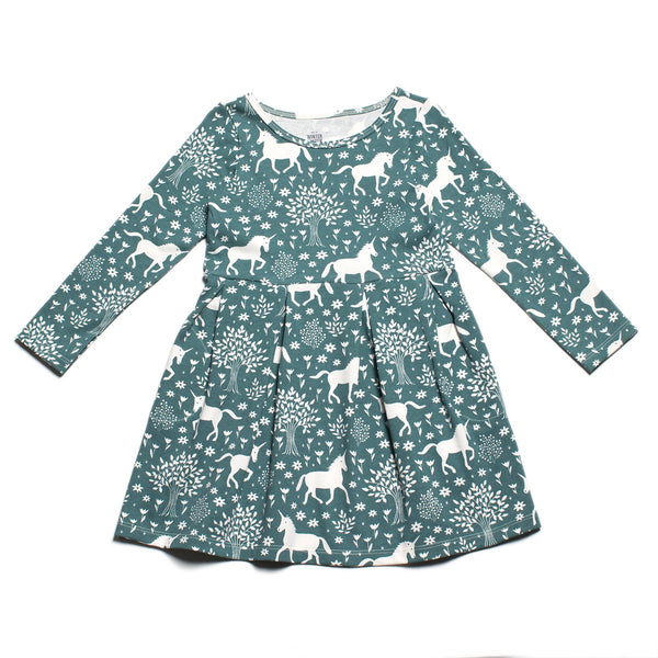 Madison Dress - Magical Forest Teal
