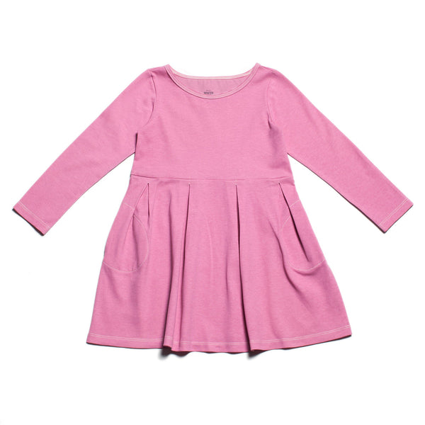 Madison Dress - Solid Dusty Rose