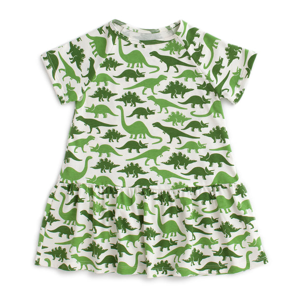 Milwaukee Dress - Dinosaurs Green