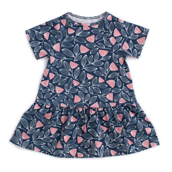Milwaukee Dress - Holland Floral Midnight Blue & Dusty Pink