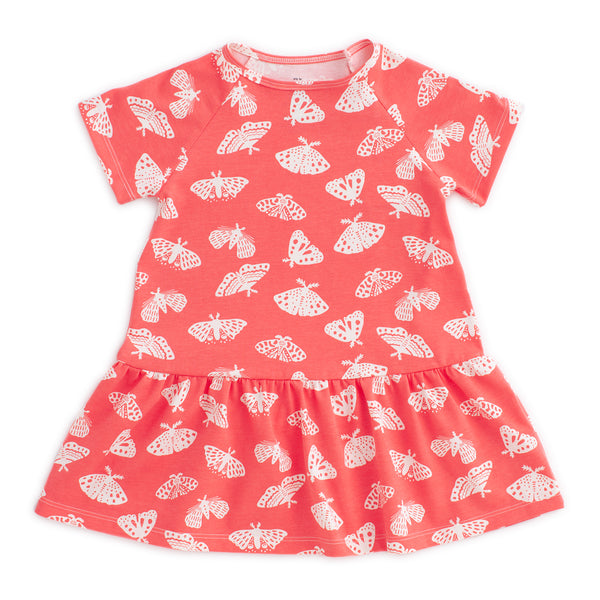 Milwaukee Dress - Moths Coral