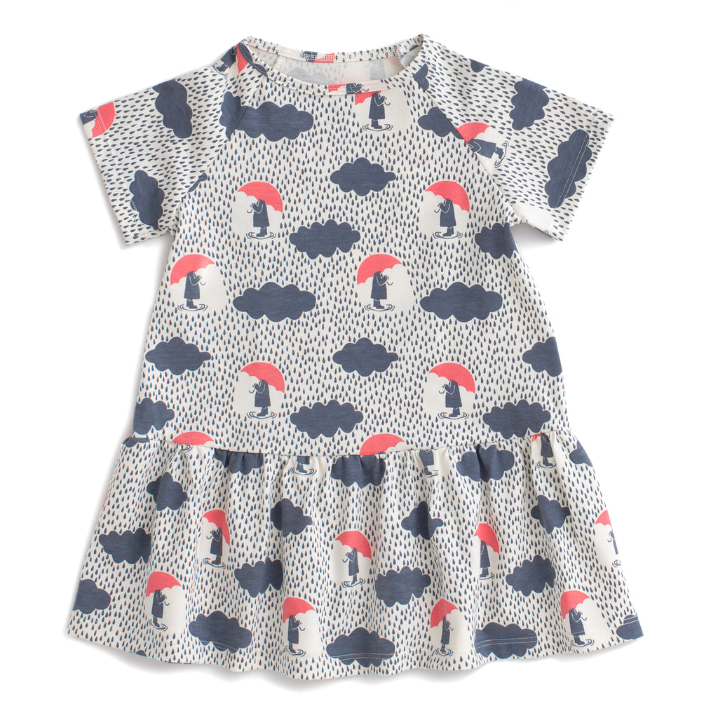 Milwaukee Dress - Summer Rain Slate Blue & Coral