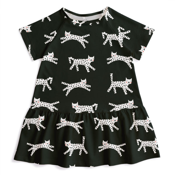 Milwaukee Dress - Cats Black