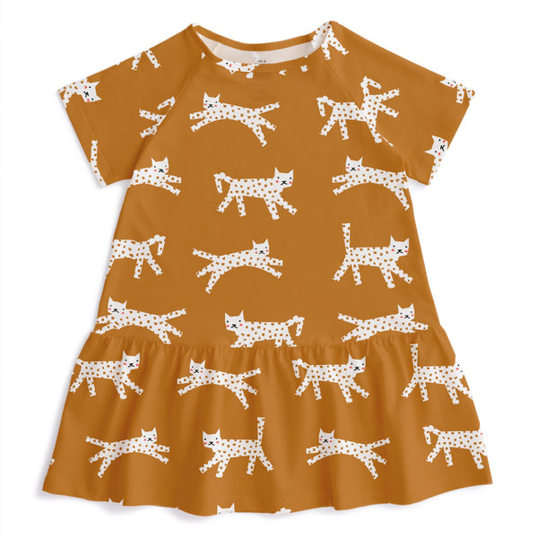Milwaukee Dress - Cats Gold