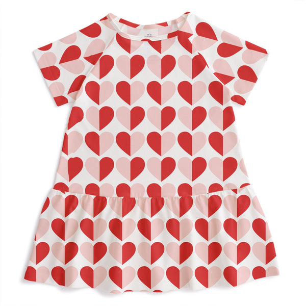 Milwaukee Dress - Hearts Red & Pink