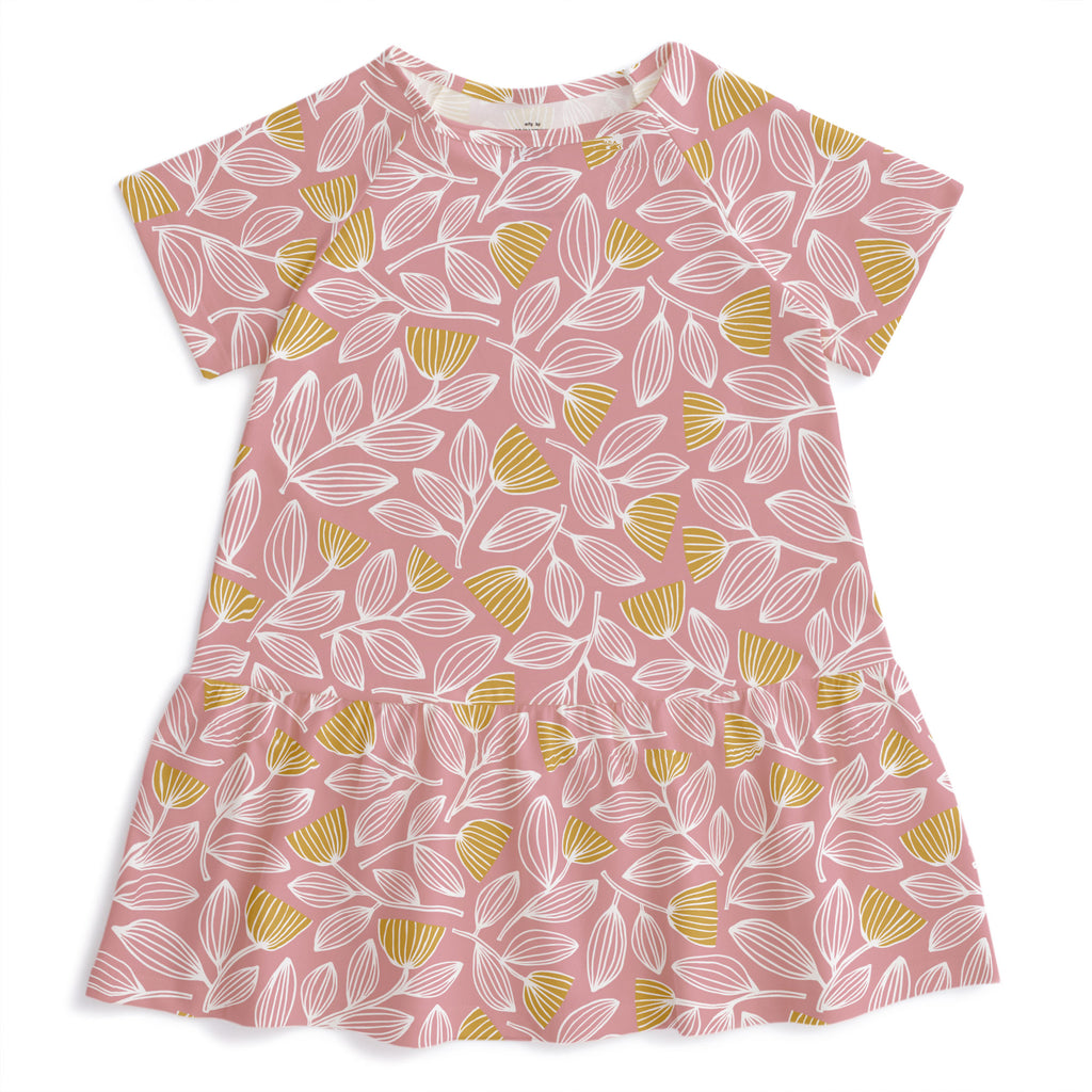 Milwaukee Dress - Holland Floral Dusty Pink & Yellow