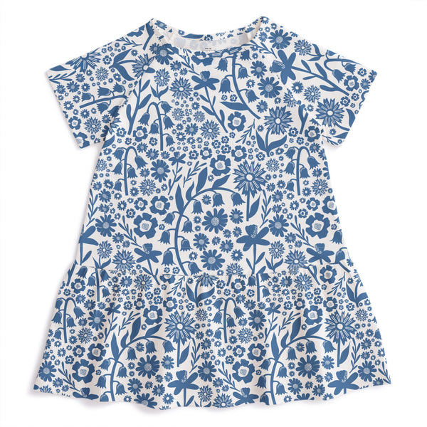 Milwaukee Dress - Dutch Floral Delft Blue