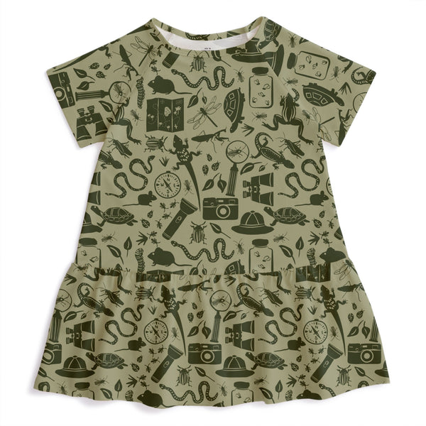 Milwaukee Dress - Nature Explorer Sage & Forest Green