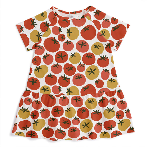 Milwaukee Dress - Tomatoes Red & Yellow