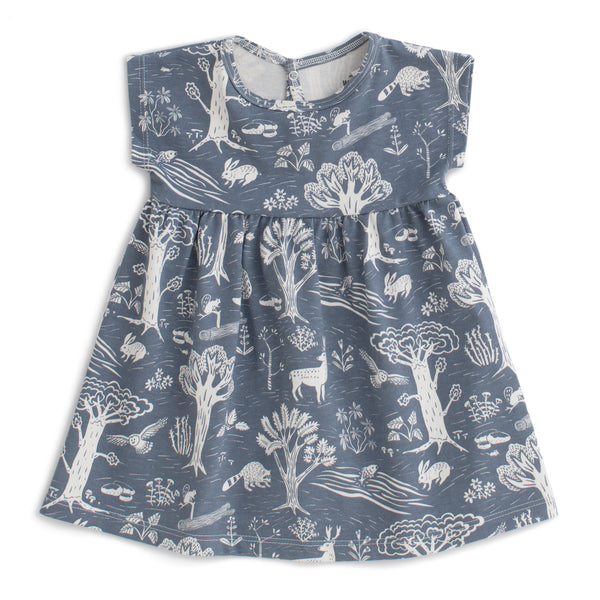 Merano Baby Dress - In the Forest Slate Blue