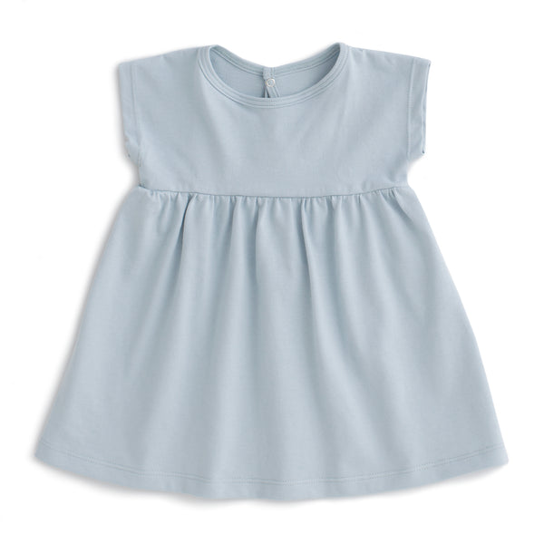 Merano Baby Dress - Solid Pale Blue